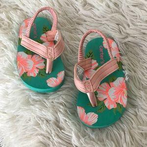 Carter's Floral Sandals Thongs Flip Flops